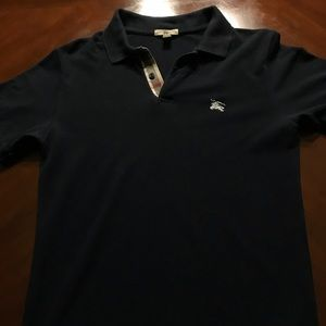 Authentic Burberry Brit Navy Polo Shirt Size S
